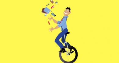 Man Juggling on Bike