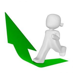 green-arrow-up-toon