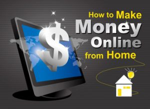 make money online text,computer and house