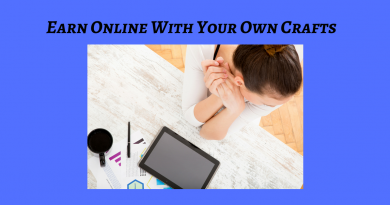 earn online with your own crafts text-lady w/computer